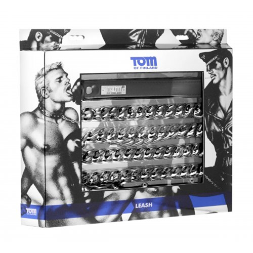 Tom Of Finland Neoprene Gun Metal Leash image .6