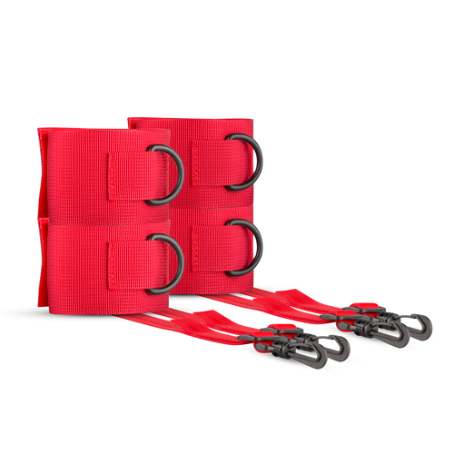 Bryce Bed Bondage Set - Rood