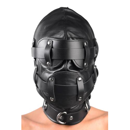 Total Lockdown Leather Hood - Small/Medium image .2