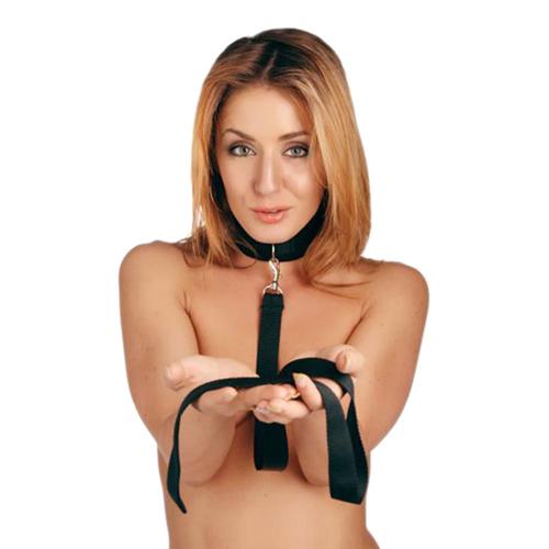 Riem en Halsband set - Zwart