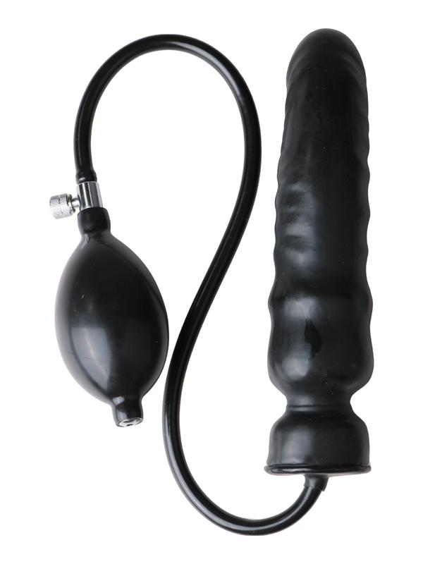 Consolador de látex inflable