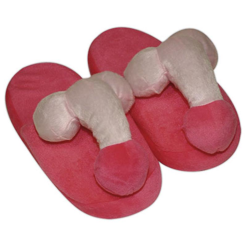 Zapatillas de pene de color rosa