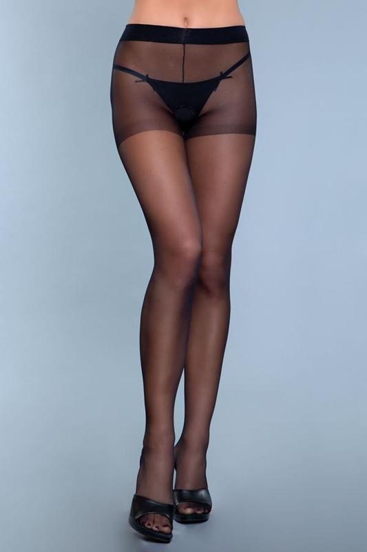 Everyday Wear Crotchless Pantyhose - Negras