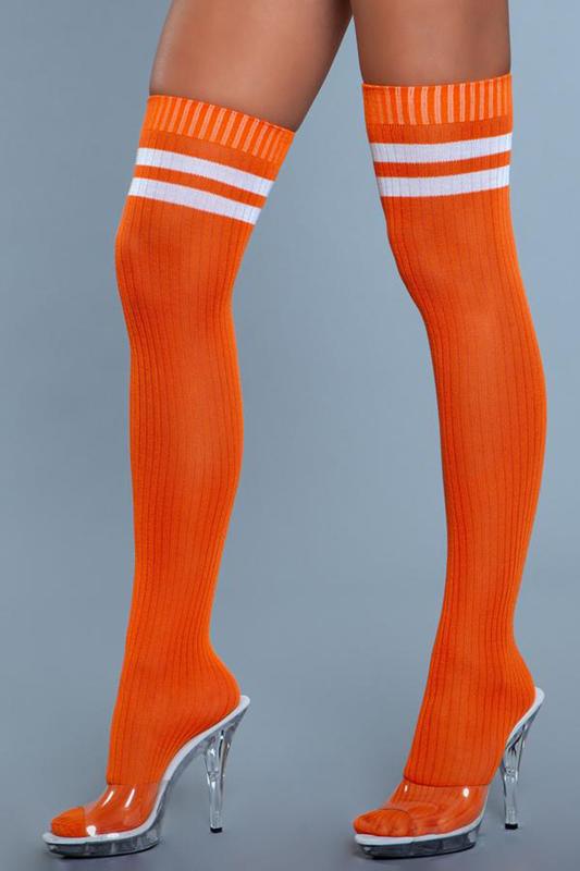 Medias profesionales de muslo alto - Naranja