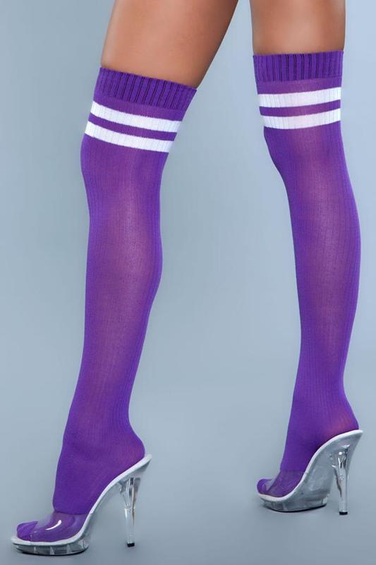 Medias profesionales de muslo alto - Púrpura