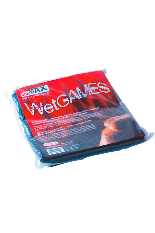 Lámina de vinilo SexMAX WetGAMES 180 x 220 cm - Negro