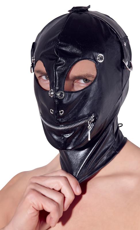 Máscara de cuero de imitación