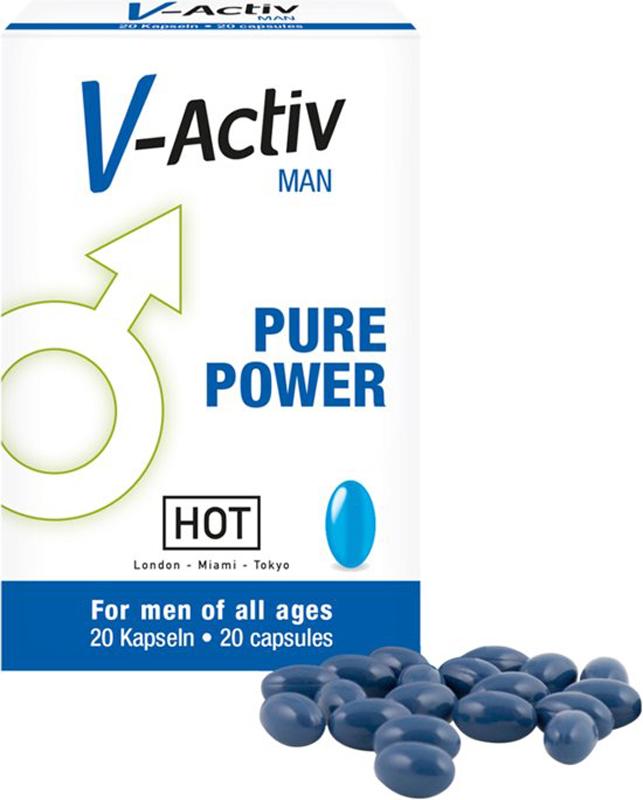 V-Activ Caps para hombres 20 piezas