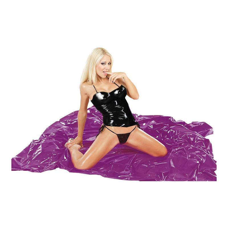 Sábana de cama de vinilo púrpura