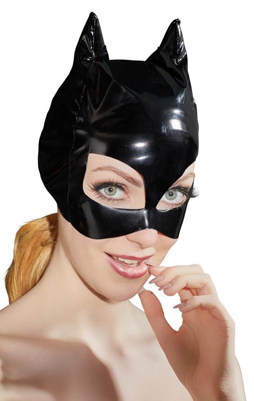 Máscara de vinilo con orejas de gato