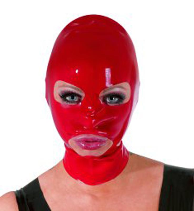 Máscara de látex roja