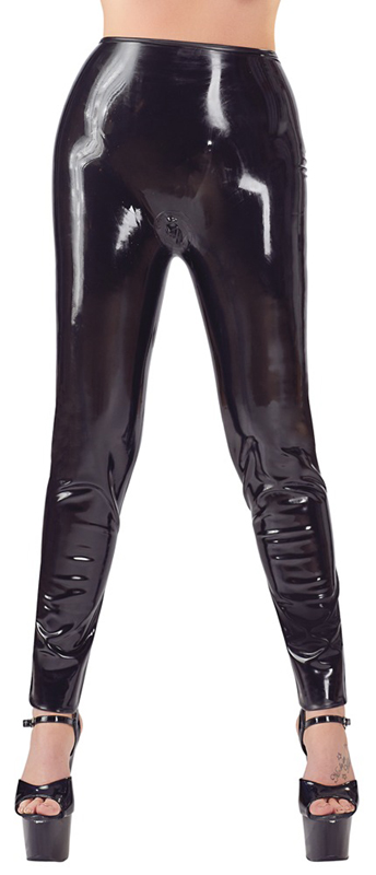 Latex Legging Met Dildo's