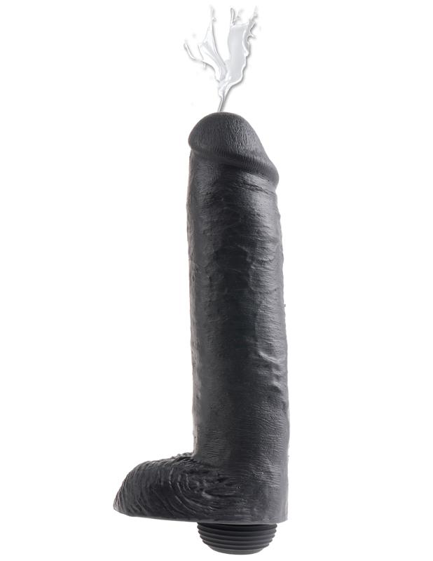 King Cock Spuitende Dildo 30 cm – Zwart