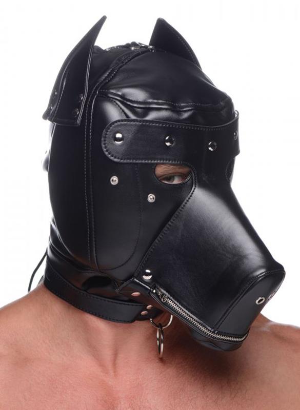 Capucha BDSM universal con bozal extraíble