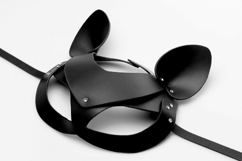 ΜΑΣΚΑ ΔΕΡΜΑΤΙΝΗ Bad Kitten - Leather Cat Mask image