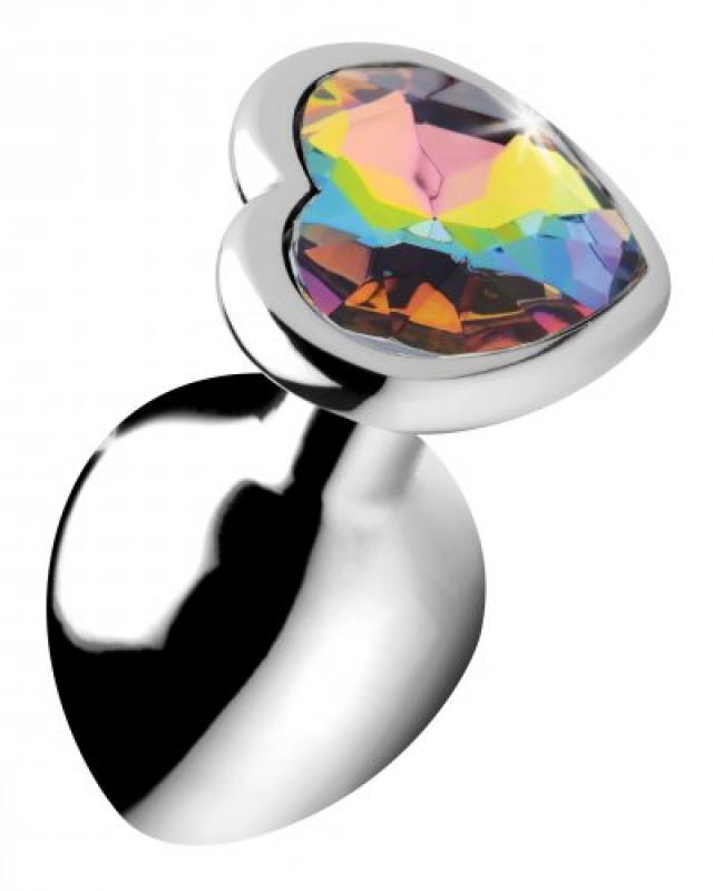 Rainbow Heart Buttplug – Middel