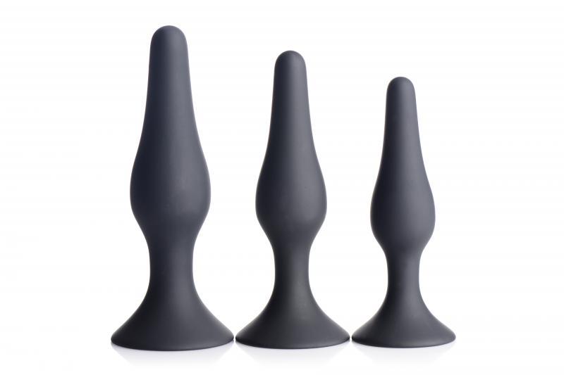 Juego de tapones anales de silicona de 3 Piezas