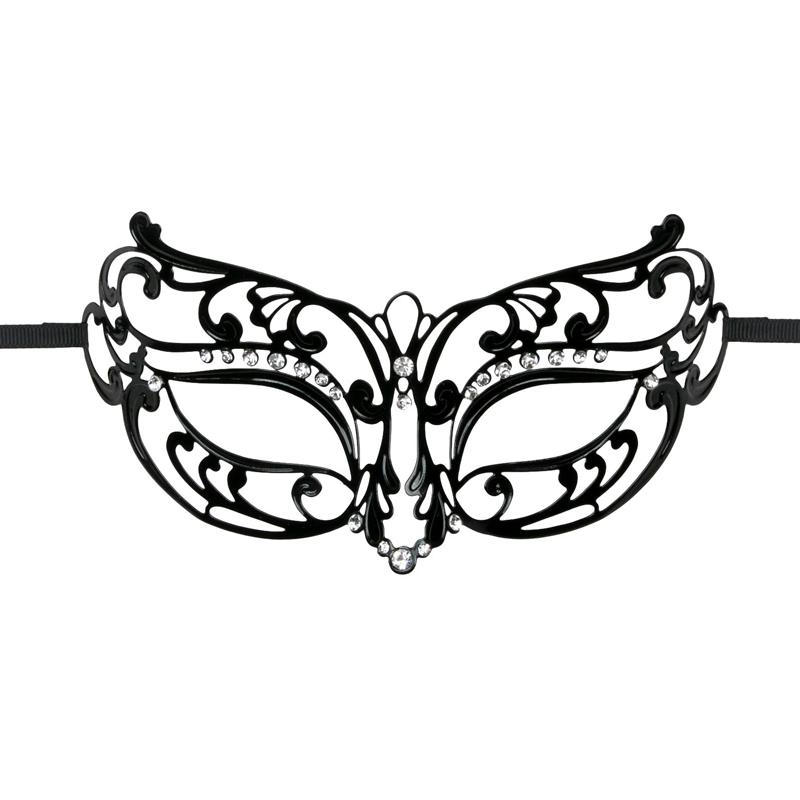 Máscara negra metálica