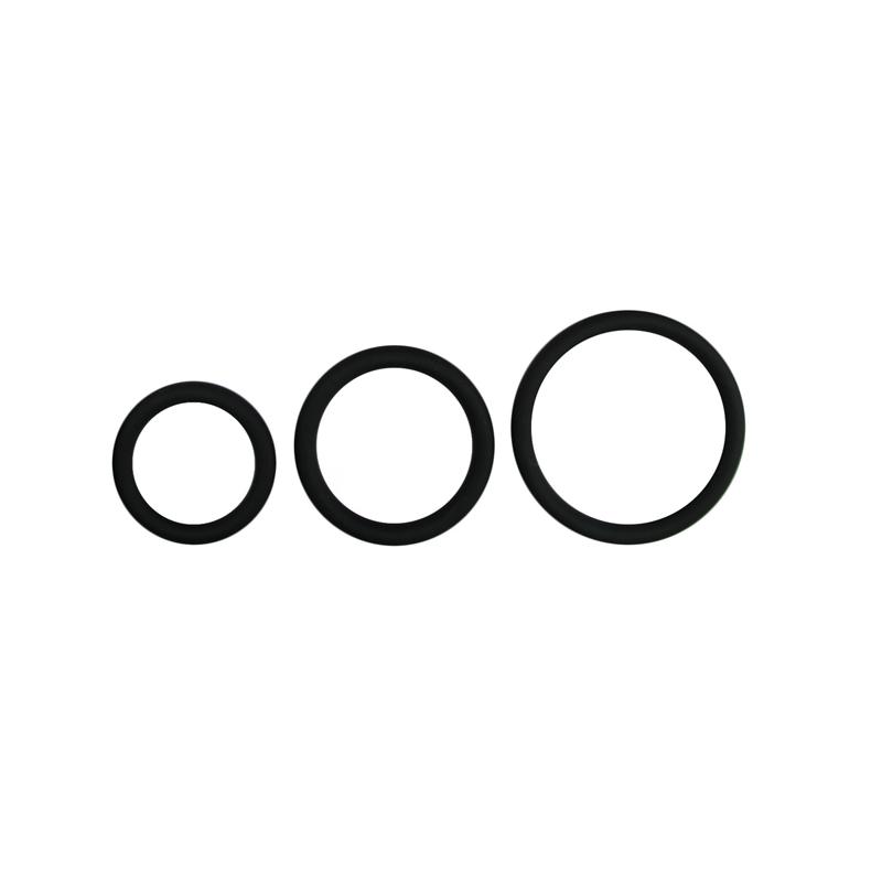 Set de anillos para dl pene 3 tamaños - Negro