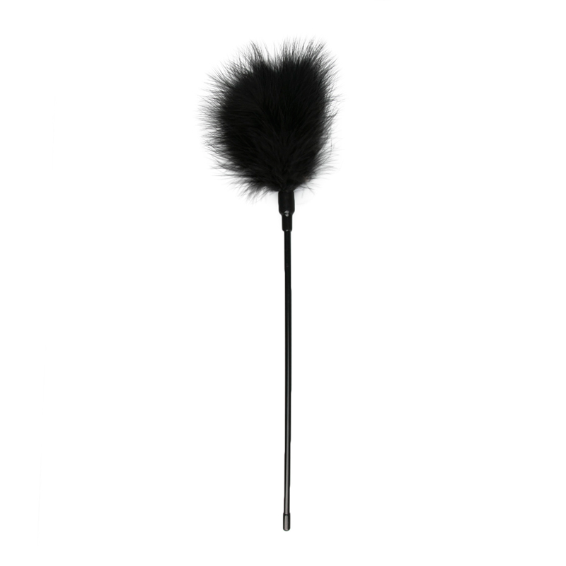 Pluma estimuladora negra - Larga