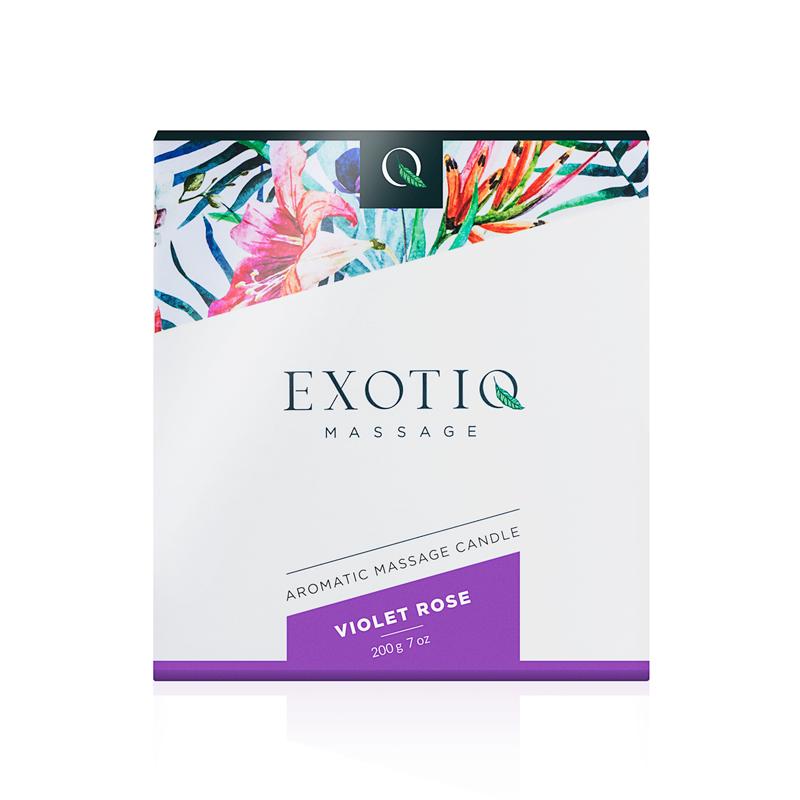 Exotiq Massage Candle Violet Rose - 200g image