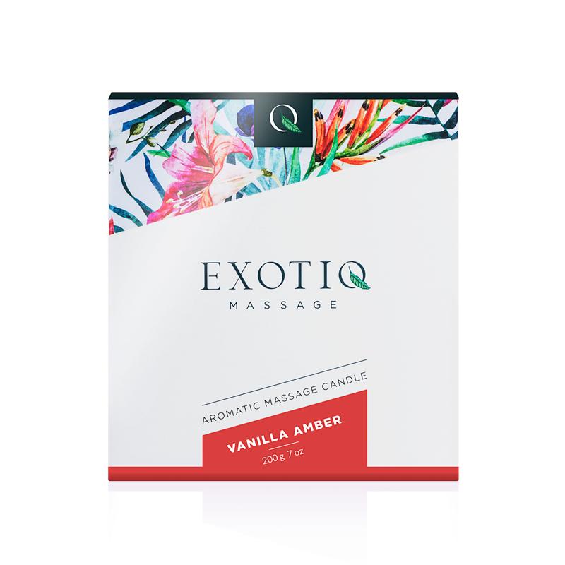 Exotiq Massage Candle Vanilla Amber - 200g image