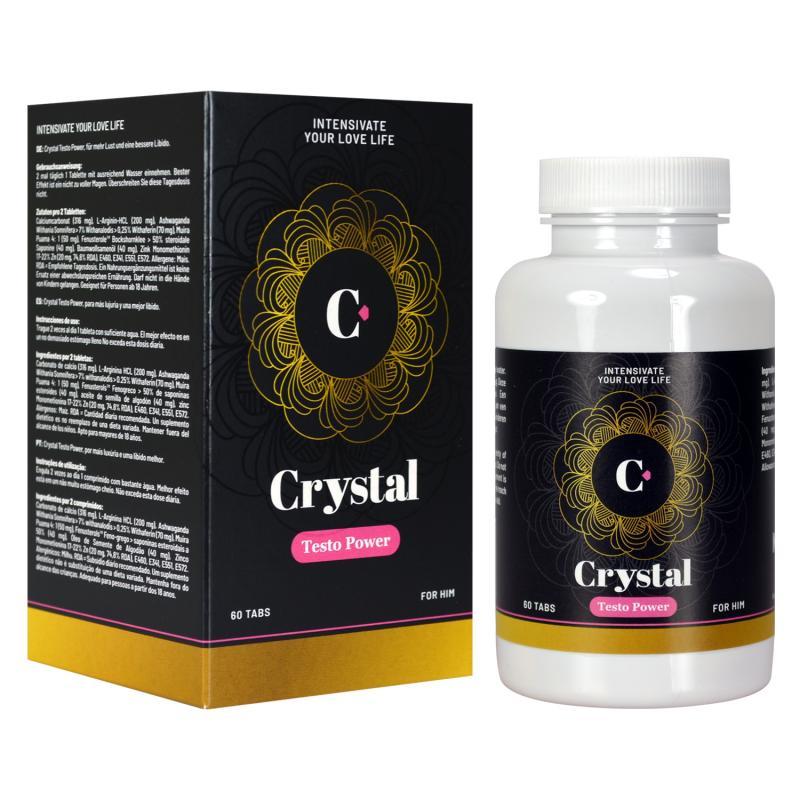 Crystal - Potenciador de testosterona Testo Power - 60 comprimidos