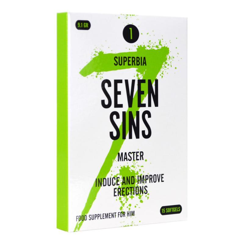 Seven Sins - Master - Afrodisíaco para hombres - 15 cápsulas blandas
