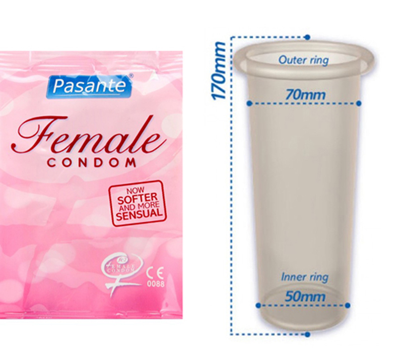 Pasante Female Condoms 3pcs image