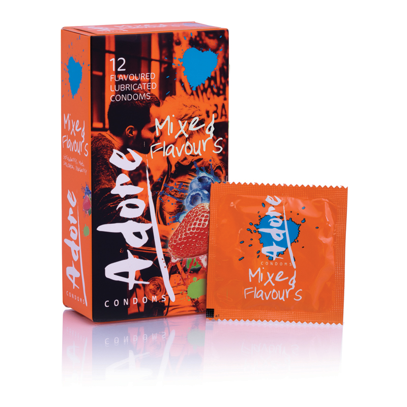Condones Adore Flavors - 12 Condones