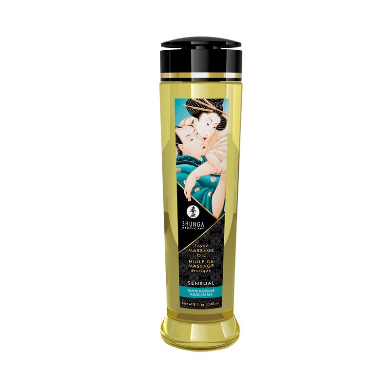 Shunga - Aceite para masajes sensual y flores de una isla - 240 ml