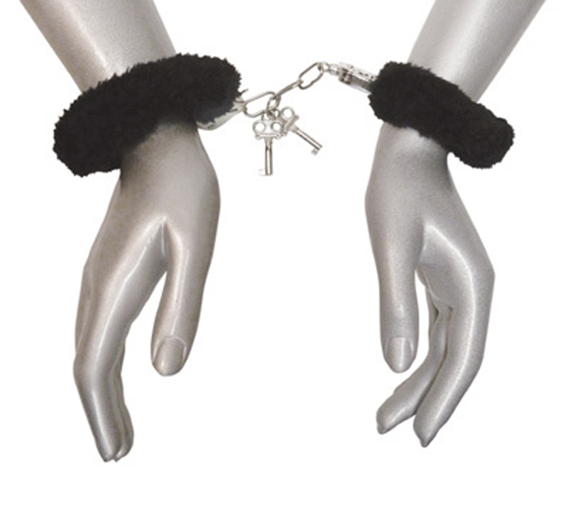 Caught In Candy Velvet Handcuffs - Black image