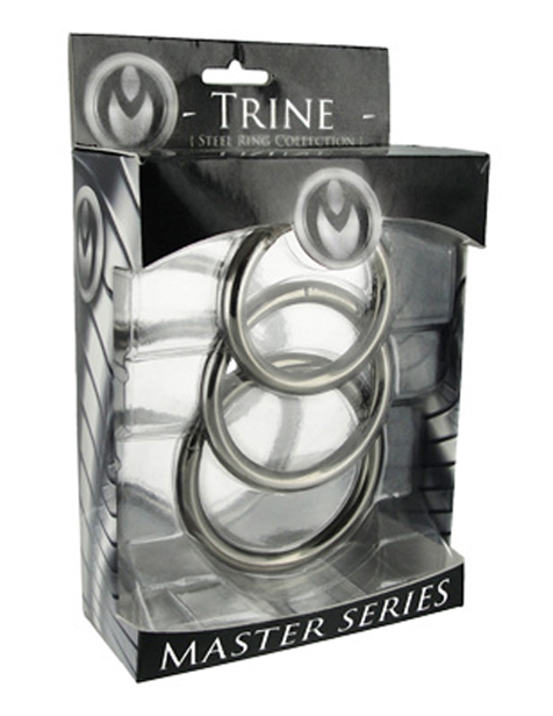 Trine Steel Ring Collection image