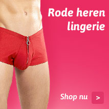 Rode heren lingerie